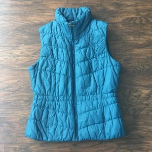 Cold Water Creek Blue Puffer Jacket Size M